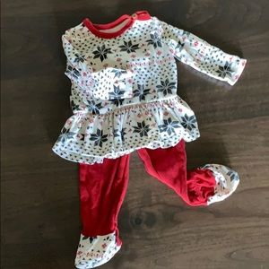 Burt's Bees Two Piece Holiday Outfit